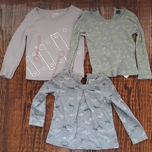 Three Baby Gap long sleeve shirts